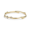 14K yellow gold twig inspired band by Olivia Ewing Jewelry