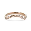14K rose gold pave diamond wedding band by Olivia Ewing Jewelry
