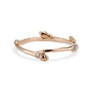 14K rose gold diamond nature ring by Olivia Ewing Jewelry