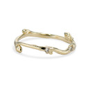 14K yellow gold twig diamond band by Olivia Ewing Jewelry