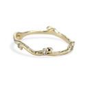 Pavé diamond wedding ring by Olivia Ewing Jewelry