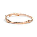Curved gold twig band by Olivia Ewing Jewelry