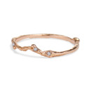 14K rose gold nature wedding band by Olivia Ewing Jewelry