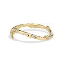 Nature inspired diamond wedding ring by Olivia Ewing Jewelry