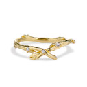 Bluebell Diamond Contour Ring by Olivia Ewing Jewelry