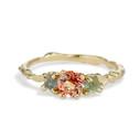 Naples Oregon Sunstone Three Stone Ring by Olivia Ewing Jewelry