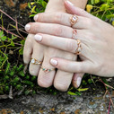 Made to order engagement ring by Olivia Ewing Jewelry