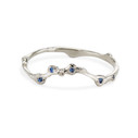 Silver Naples Sapphire Contour Ring by Olivia Ewing Jewelry