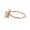 Brilliant cut white diamond engagement ring by Olivia Ewing Jewelry