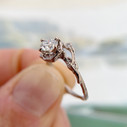 Unique diamond ring by Olivia Ewing Jewelry