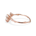 14K rose gold rustic twig engagement ring by Olivia Ewing Jewelry