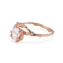 Nature inspired pear cut diamond ring by Olivia Ewing Jewelry