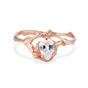 Naples pear diamond half halo ring by Olivia Ewing Jewelry