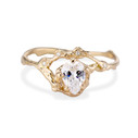 14K yellow gold earthy engagement ring by Olivia Ewing Jewelry