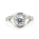 Platinum Chelsea Diamond Solitaire Ring by Olivia Ewing Jewelry