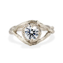 White Gold Chelsea Diamond Solitaire Ring by Olivia Ewing Jewelry