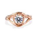 Rose Gold Chelsea Diamond Solitaire Ring by Olivia Ewing Jewelry