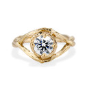 Yellow Gold Chelsea Diamond Solitaire Ring by Olivia Ewing Jewelry
