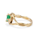 Yellow Gold Chelsea Emerald Solitaire Ring by Olivia Ewing Jewelry