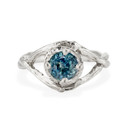 Platinum Chelsea Montana Sapphire Solitaire Ring by Olivia Ewing Jewelry