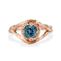 Rose Gold Chelsea Montana Sapphire Solitaire Ring by Olivia Ewing Jewelry