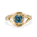 Yellow Gold Chelsea Montana Sapphire Solitaire Ring by Olivia Ewing Jewelry