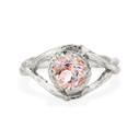 Platinum Chelsea Morganite Solitaire Ring by Olivia Ewing Jewelry
