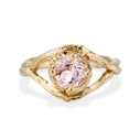 Yellow Gold Chelsea Morganite Solitaire Ring by Olivia Ewing Jewelry
