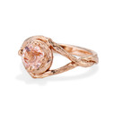 Rose Gold Chelsea Morganite Solitaire Ring by Olivia Ewing Jewelry