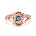 Rose Gold Chelsea Salt & Pepper Diamond Solitaire Ring by Olivia Ewing Jewelry