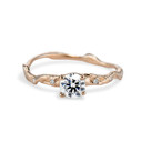 Rose Gold Naples Diamond Twisted Solitaire by Olivia Ewing Jewelry