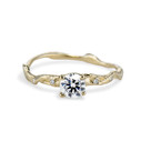 Yellow Gold Naples Diamond Twisted Solitaire by Olivia Ewing Jewelry