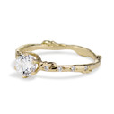 14K Yellow Gold Bluebell Diamond Solitaire Ring by Olivia Ewing Jewelry