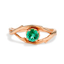 14K Rose Gold Large Unity Emerald Solitaire Ring by Olivia Ewing Jewelry