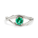 Platinum Large Unity Emerald Solitaire Ring by Olivia Ewing Jewelry