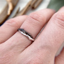 Unique silver ring by Olivia Ewing Jewelry