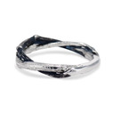 Sterling silver twig ring by Olivia Ewing Jewelry