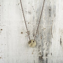 gold nature inspired pendant necklace