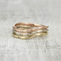 Contoured wedding ring by Olivia Ewing Jewelry