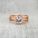 Rose gold diamond engagement ring by Olivia Ewing Jewelry