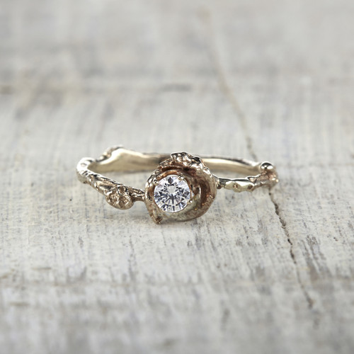 Petite Madrid Diamond Solitaire Ring by Olivia Ewing Jewelry