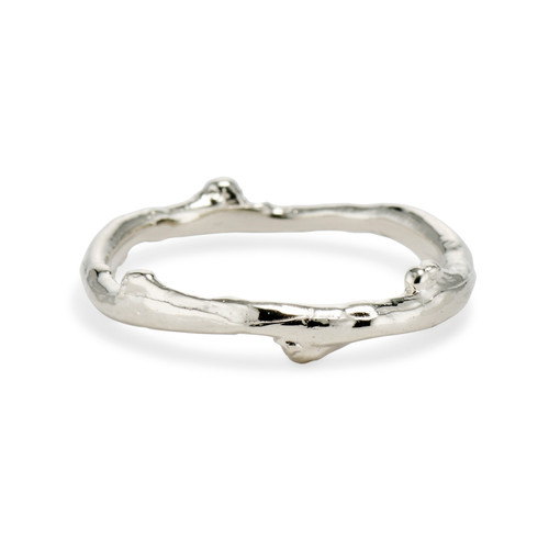 Men's Silver Garland Ring by Olivia Ewing Jewelry