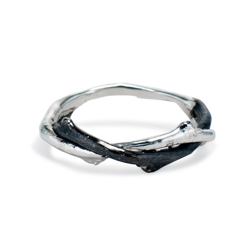 Men's Silver Unity Ring by Olivia Ewing Jewelry