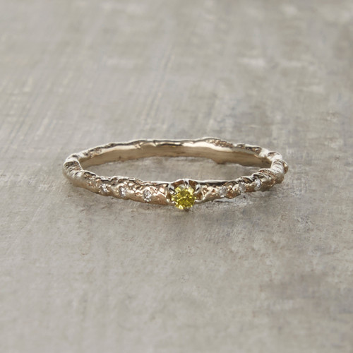 Brooks Yellow Diamond Solitaire Ring by Olivia Ewing Jewelry