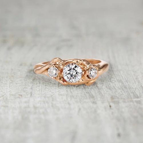 Harmony Diamond Three Stone Ring by Olivia Ewing Jewelry