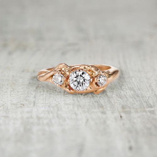 three diamond engagement ring