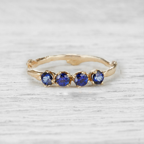 Garland Sapphire Four Stone Ring by Olivia Ewing Jewelry