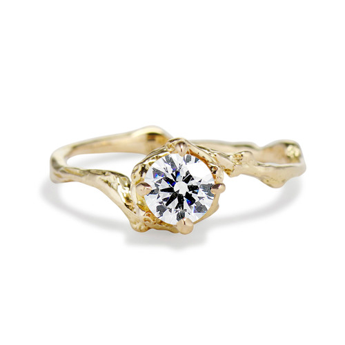 Naples Diamond Solitaire Ring by Olivia Ewing Jewelry