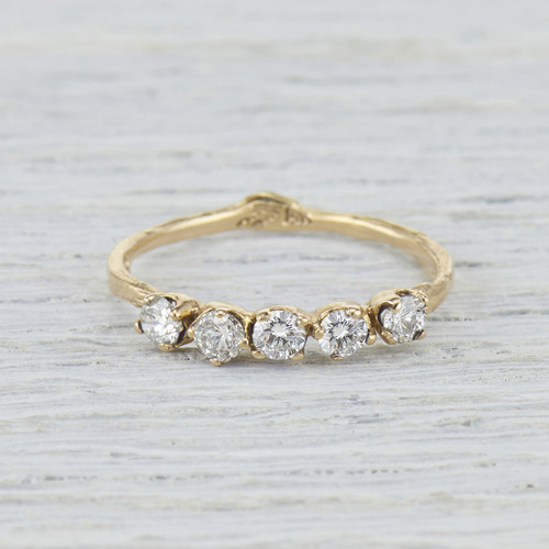 Garland Diamond Five Stone Ring by Olivia Ewing Jewelry