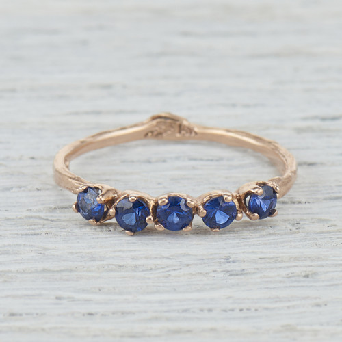 Garland Sapphire Five Stone Ring by Olivia Ewing Jewelry